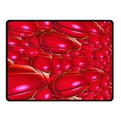 Red Abstract Cherry Balls Pattern Double Sided Fleece Blanket (small)