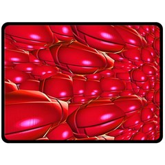 Red Abstract Cherry Balls Pattern Double Sided Fleece Blanket (large)