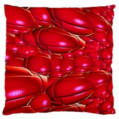 Red Abstract Cherry Balls Pattern Large Flano Cushion Case (two Sides)