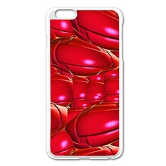 Red Abstract Cherry Balls Pattern Apple Iphone 6 Plus/6s Plus Enamel White Case