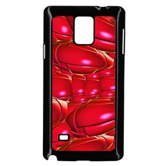 Red Abstract Cherry Balls Pattern Samsung Galaxy Note 4 Case (black)