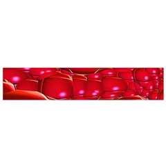 Red Abstract Cherry Balls Pattern Flano Scarf (Small)