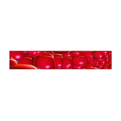 Red Abstract Cherry Balls Pattern Flano Scarf (Mini)