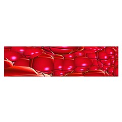 Red Abstract Cherry Balls Pattern Satin Scarf (oblong)