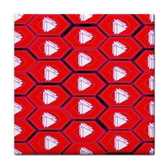Red Bee Hive Tile Coasters