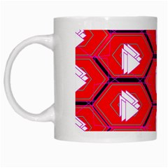 Red Bee Hive White Mugs