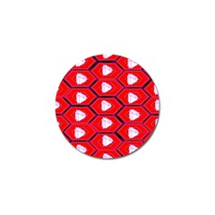 Red Bee Hive Golf Ball Marker