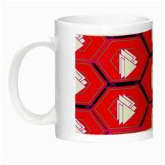 Red Bee Hive Night Luminous Mugs