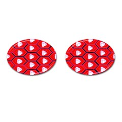 Red Bee Hive Cufflinks (oval)