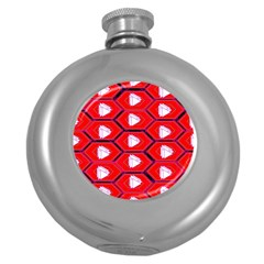 Red Bee Hive Round Hip Flask (5 Oz)