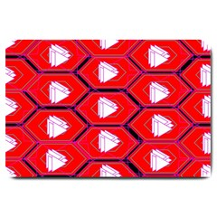 Red Bee Hive Large Doormat