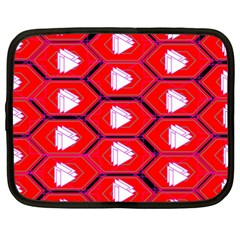 Red Bee Hive Netbook Case (xxl)