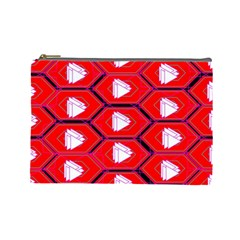 Red Bee Hive Cosmetic Bag (large)