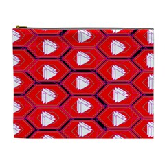 Red Bee Hive Cosmetic Bag (xl)