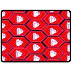 Red Bee Hive Fleece Blanket (large)