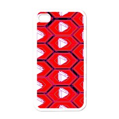 Red Bee Hive Apple Iphone 4 Case (white)