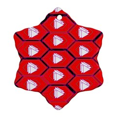 Red Bee Hive Snowflake Ornament (two Sides)
