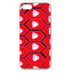 Red Bee Hive Apple Seamless Iphone 5 Case (clear)