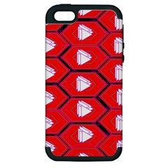 Red Bee Hive Apple iPhone 5 Hardshell Case (PC+Silicone)