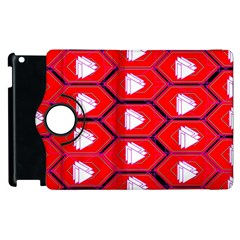 Red Bee Hive Apple Ipad 3/4 Flip 360 Case