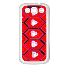 Red Bee Hive Samsung Galaxy S3 Back Case (white)
