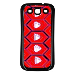 Red Bee Hive Samsung Galaxy S3 Back Case (black)