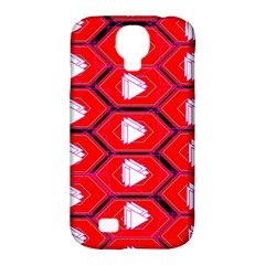Red Bee Hive Samsung Galaxy S4 Classic Hardshell Case (pc+silicone)