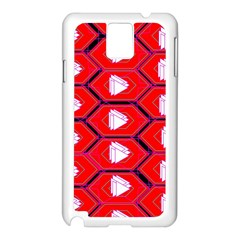Red Bee Hive Samsung Galaxy Note 3 N9005 Case (white)