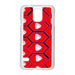Red Bee Hive Samsung Galaxy S5 Case (white)