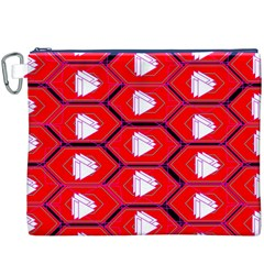 Red Bee Hive Canvas Cosmetic Bag (xxxl)