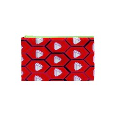 Red Bee Hive Cosmetic Bag (xs)