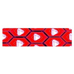 Red Bee Hive Satin Scarf (oblong)