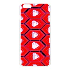 Red Bee Hive Apple Seamless iPhone 6 Plus/6S Plus Case (Transparent)