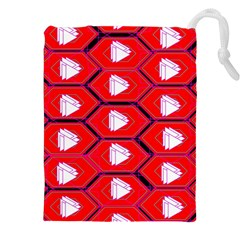 Red Bee Hive Drawstring Pouches (XXL)