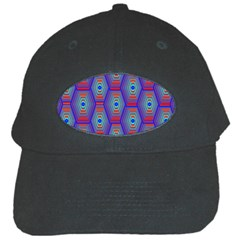 Red Blue Bee Hive Black Cap