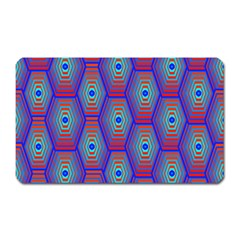 Red Blue Bee Hive Magnet (rectangular)