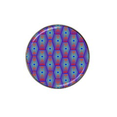 Red Blue Bee Hive Hat Clip Ball Marker