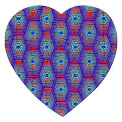Red Blue Bee Hive Jigsaw Puzzle (heart)