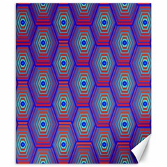 Red Blue Bee Hive Canvas 8  X 10