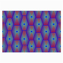 Red Blue Bee Hive Large Glasses Cloth