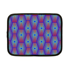 Red Blue Bee Hive Netbook Case (small)