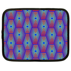 Red Blue Bee Hive Netbook Case (large)