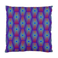 Red Blue Bee Hive Standard Cushion Case (one Side)