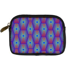 Red Blue Bee Hive Digital Camera Cases