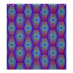 Red Blue Bee Hive Shower Curtain 66  X 72  (large)