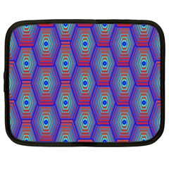 Red Blue Bee Hive Netbook Case (xxl)