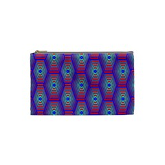 Red Blue Bee Hive Cosmetic Bag (small)