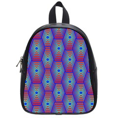 Red Blue Bee Hive School Bags (small)