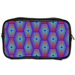 Red Blue Bee Hive Toiletries Bags 2 Side