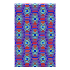 Red Blue Bee Hive Shower Curtain 48  X 72  (small)